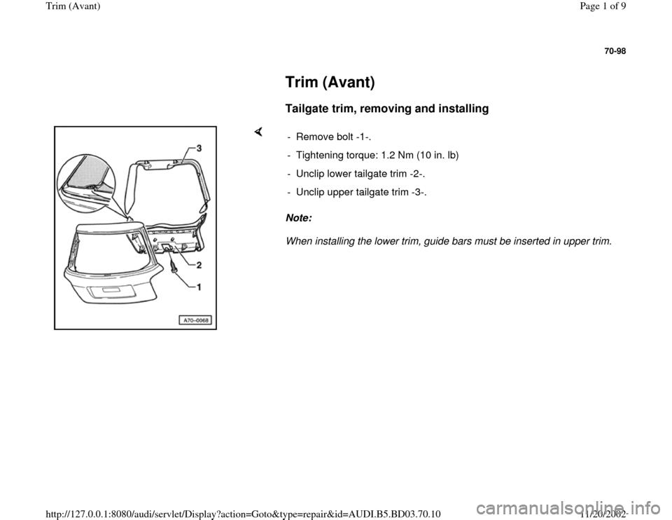 2001 audi a6 quattro owners manual pdf 11