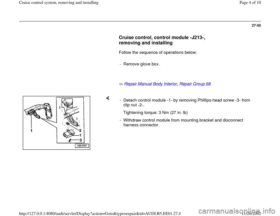 Audi a4 1997 b5 1g cruise control system workshop manual cheapraybanclubmaster Choice Image