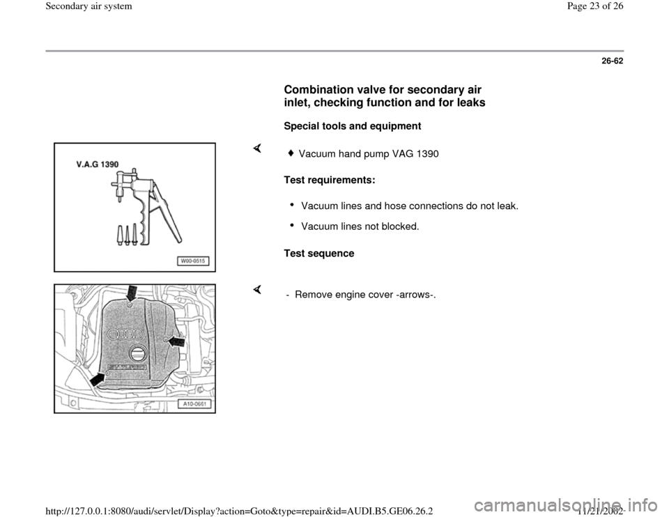 AUDI A4 2000 B5 / 1.G AWM Engine Secondary Air System Workshop Manual, Page 23