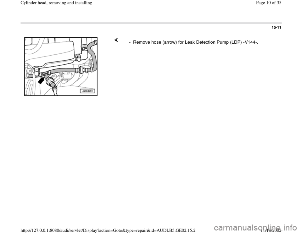 AUDI A4 1995 B5 / 1.G AEB ATW Engines Cylinder Head Remove And Install Workshop Manual, Page 10