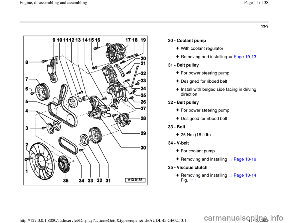 AUDI A4 2000 B5 / 1.G AEB ATW Engines Engine Assembly Workshop Manual, Page 11