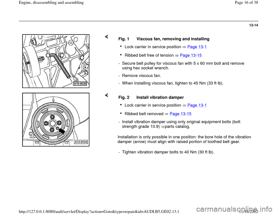 AUDI A4 2000 B5 / 1.G AEB ATW Engines Engine Assembly Workshop Manual, Page 16