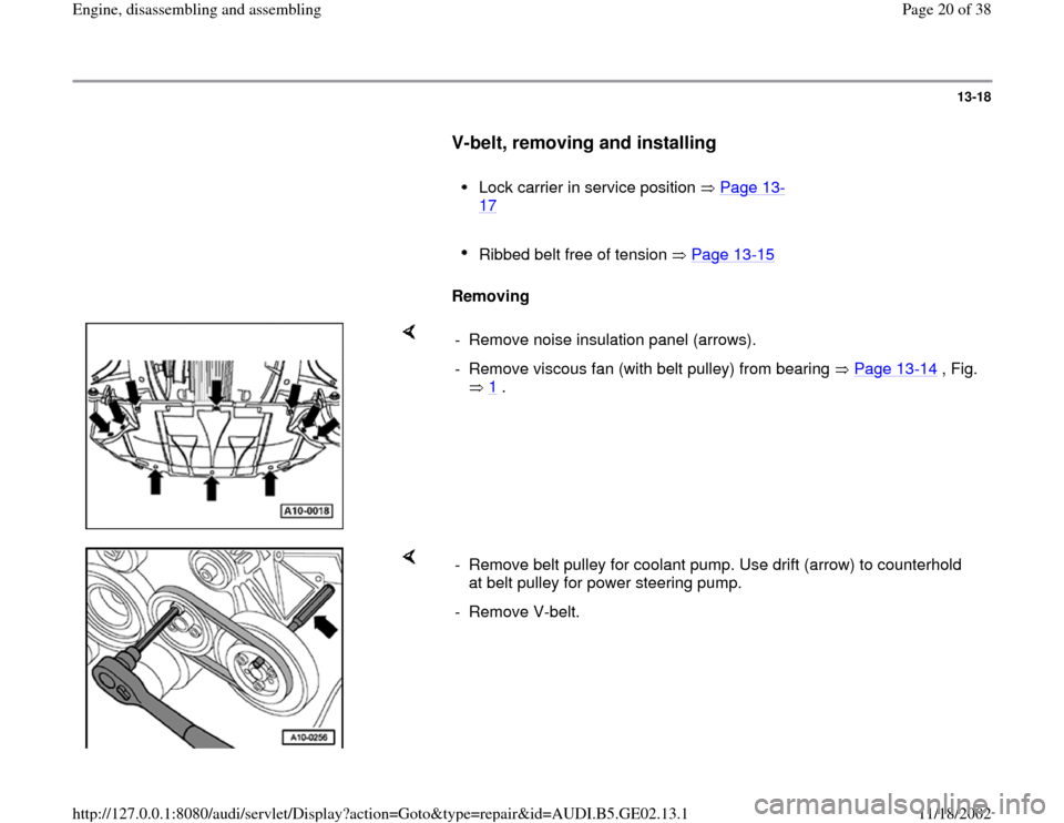 AUDI A3 1996 8L / 1.G AEB ATW Engines Engine Assembly Workshop Manual, Page 20