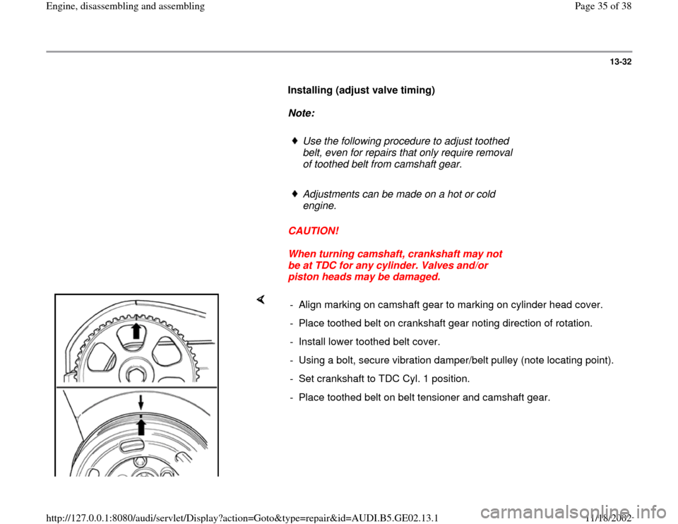 AUDI A3 1996 8L / 1.G AEB ATW Engines Engine Assembly Workshop Manual, Page 35