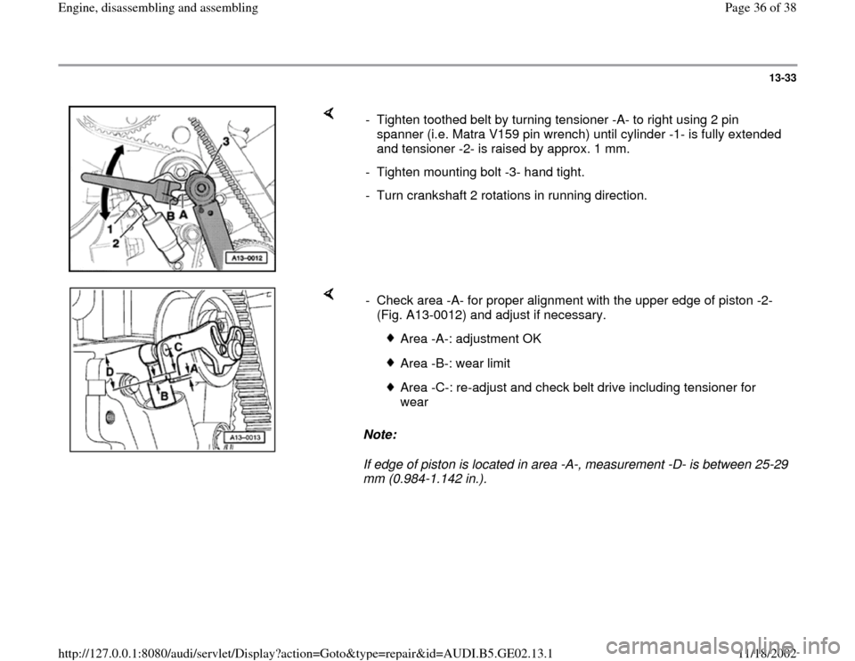 AUDI A3 1996 8L / 1.G AEB ATW Engines Engine Assembly Workshop Manual, Page 36