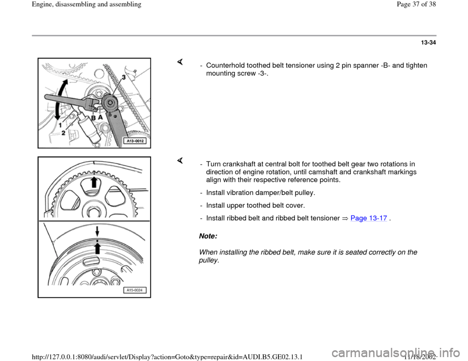 AUDI A3 1996 8L / 1.G AEB ATW Engines Engine Assembly Workshop Manual, Page 37