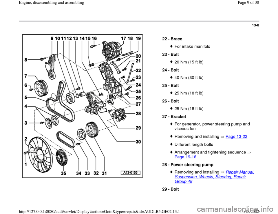 AUDI TT 2000 8N / 1.G AEB ATW Engines Engine Assembly Workshop Manual, Page 9