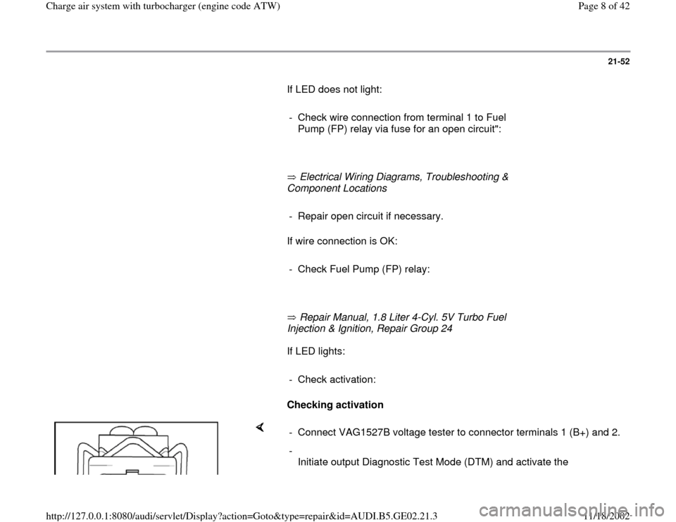 AUDI A4 1996 B5 / 1.G AEB ATW Engines Charge Air System With Turbocharger Workshop Manual, Page 8