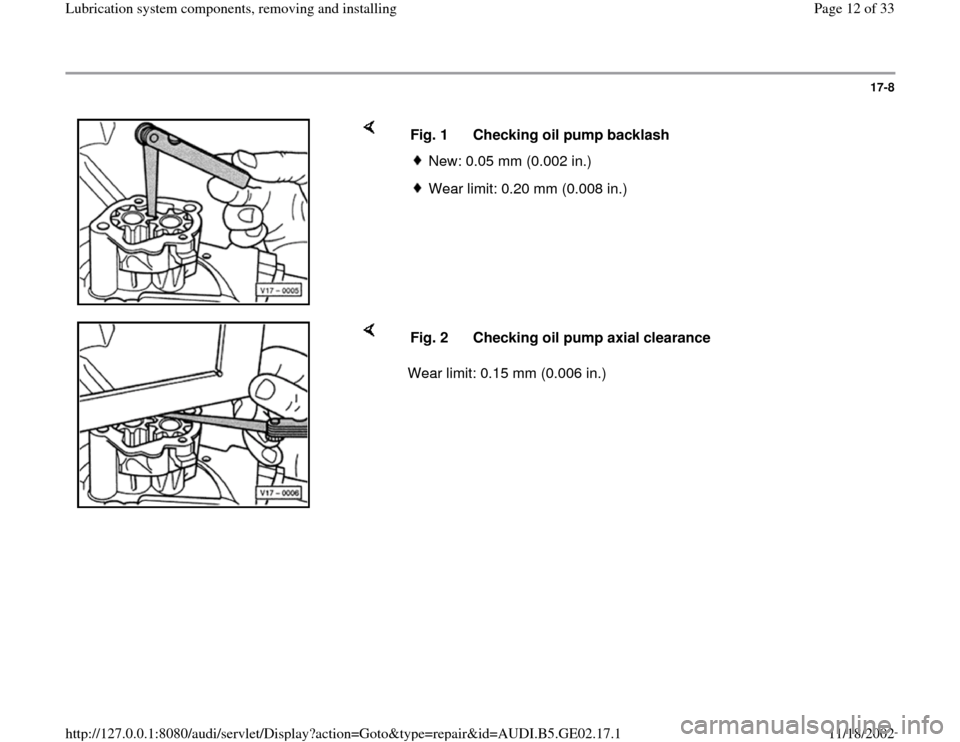 AUDI A3 1996 8L / 1.G AEB ATW Engines Lubrication System Components Workshop Manual, Page 12