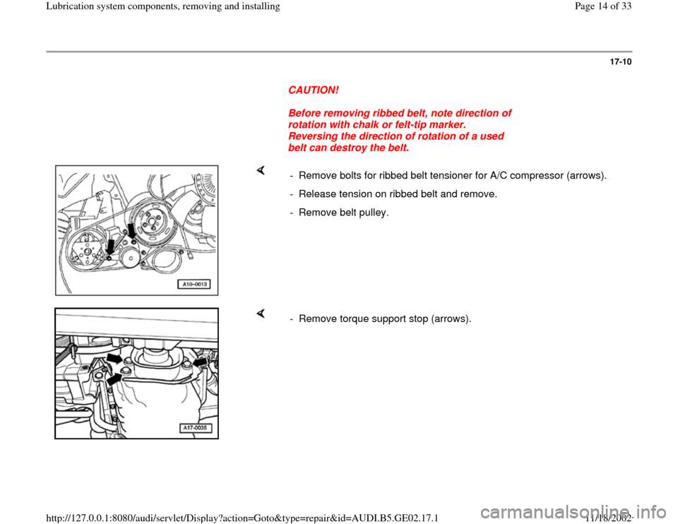 AUDI A3 1996 8L / 1.G AEB ATW Engines Lubrication System Components Workshop Manual, Page 14