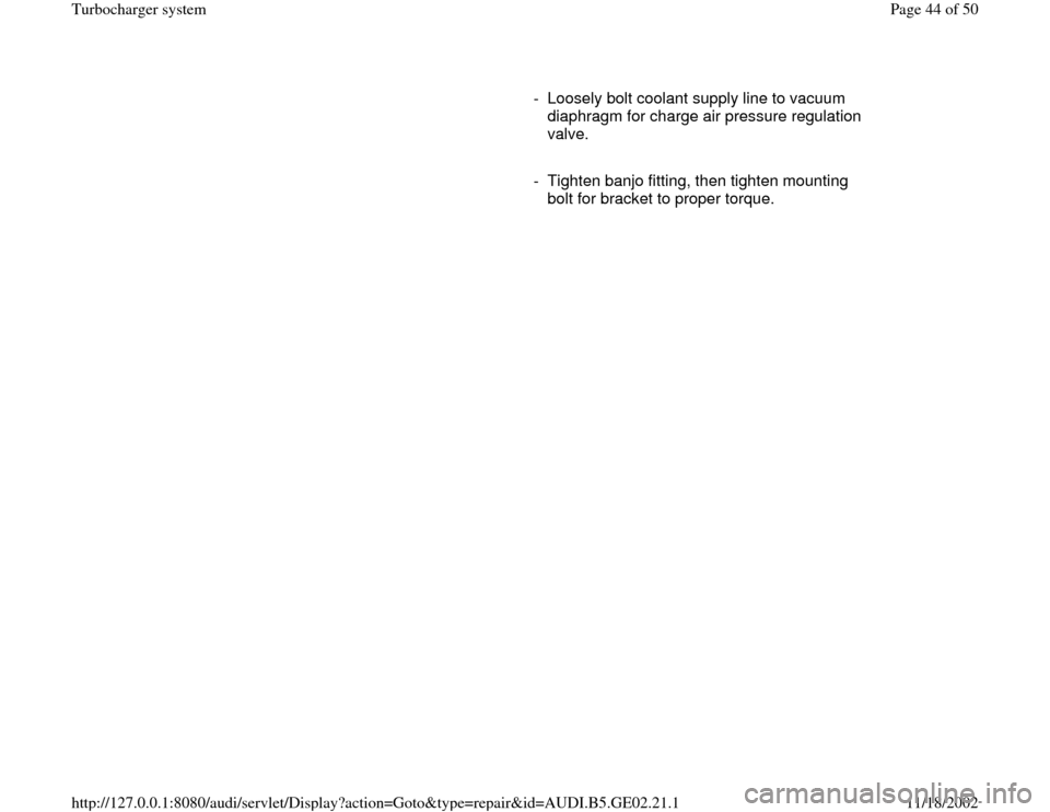 AUDI A3 2000 8L / 1.G AEB ATW Engines Turbocharger System Workshop Manual, Page 44