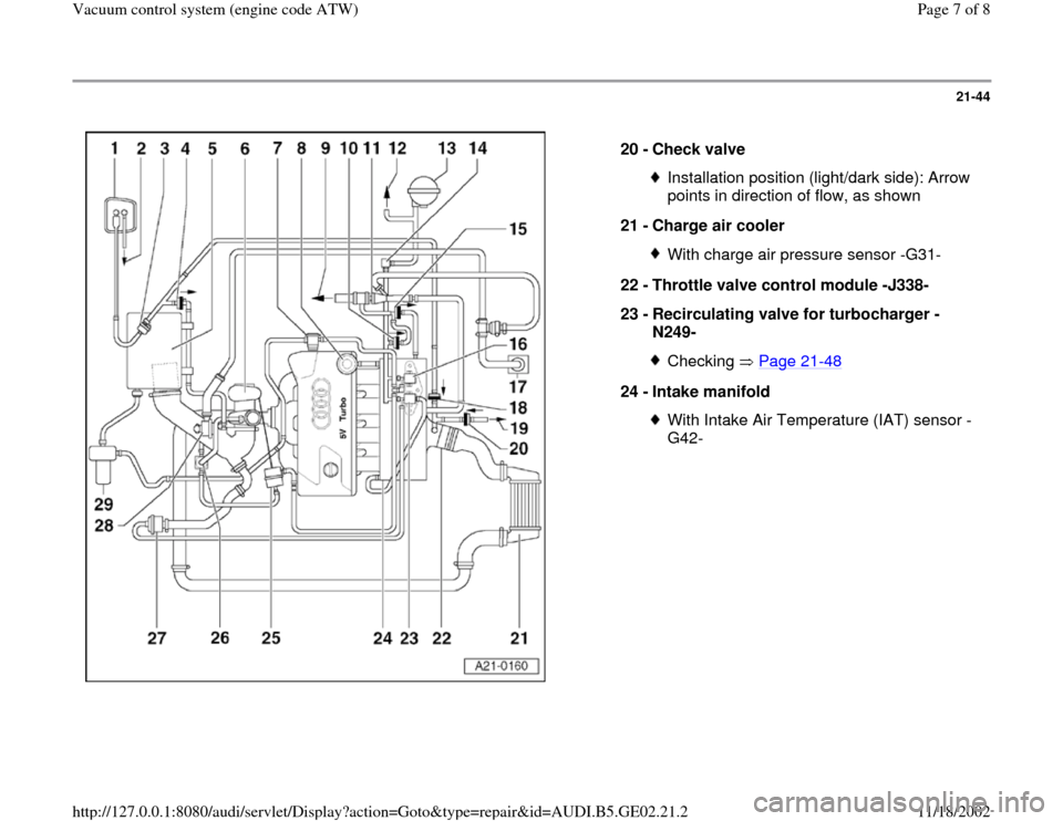 AUDI A3 1997 8L / 1.G AEB ATW Engines Vacuum Control System Workshop Manual, Page 7