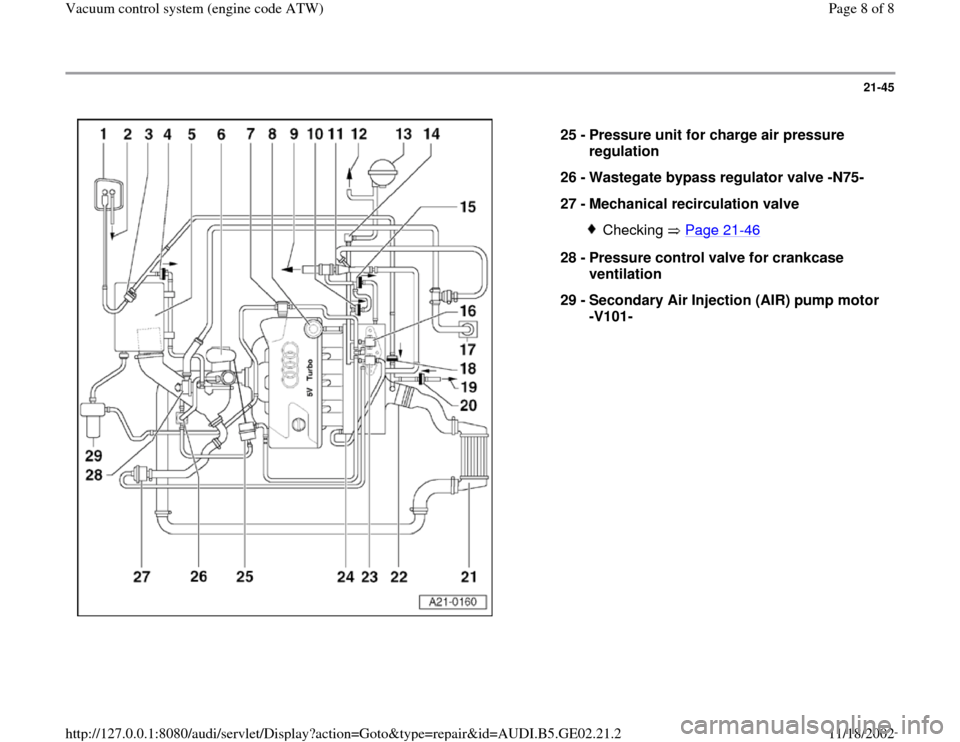 AUDI A3 1997 8L / 1.G AEB ATW Engines Vacuum Control System Workshop Manual, Page 8
