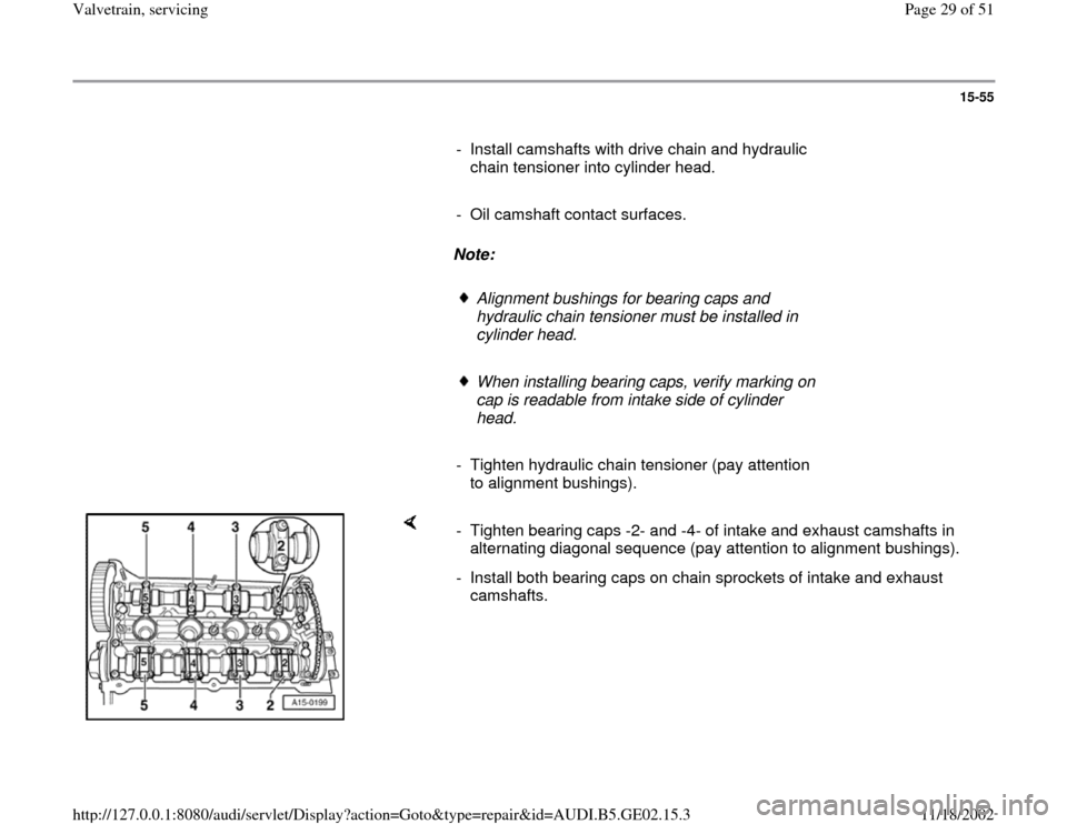 AUDI A3 1999 8L / 1.G AEB ATW Engines Valvetrain Servicing Workshop Manual, Page 29