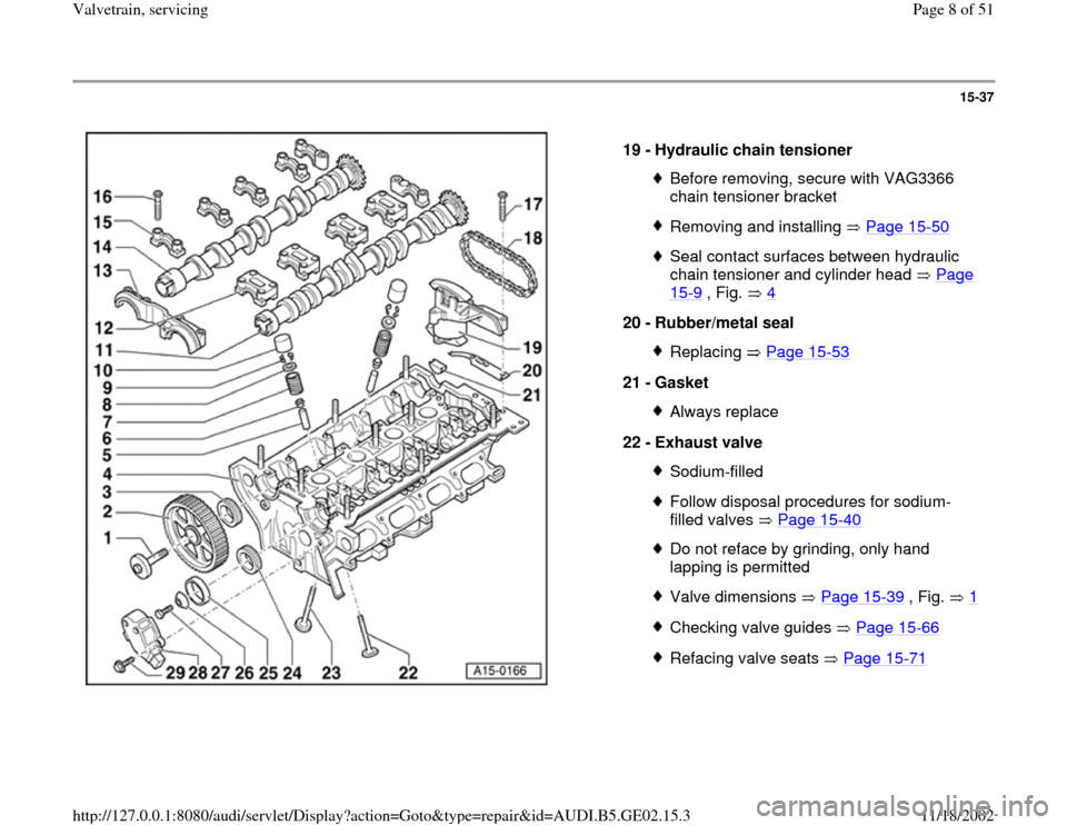 AUDI A4 1996 B5 / 1.G AEB ATW Engines Valvetrain Servicing Workshop Manual, Page 8