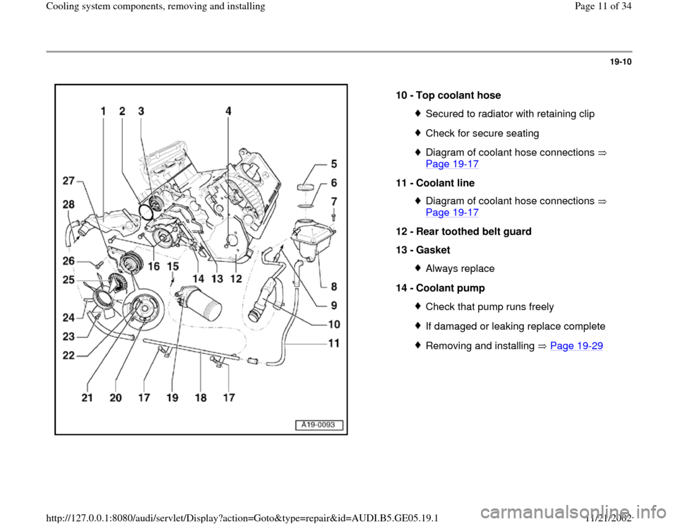 AUDI A4 1998 B5 / 1.G APB Engine Cooling System Components, Page 11