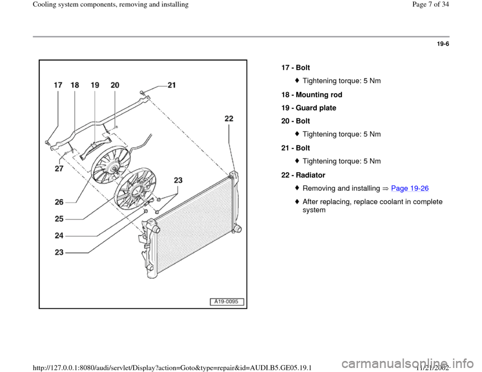 AUDI A4 2000 B5 / 1.G APB Engine Cooling System Components, Page 7