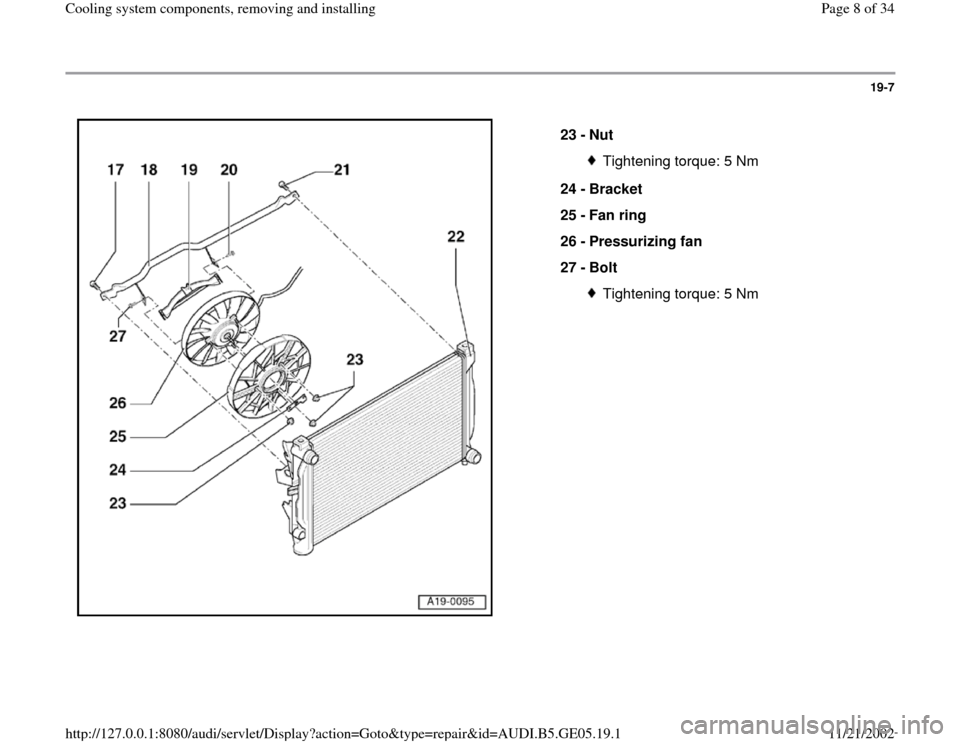 AUDI A4 2000 B5 / 1.G APB Engine Cooling System Components, Page 8