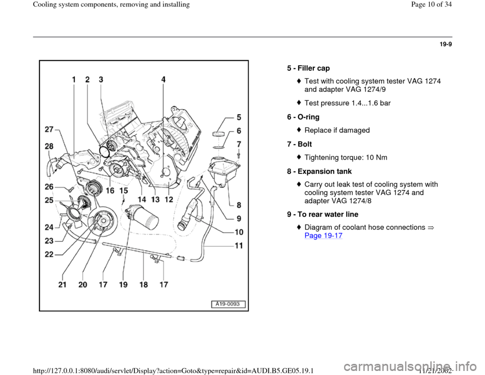 AUDI A4 2000 B5 / 1.G APB Engine Cooling System Components, Page 10
