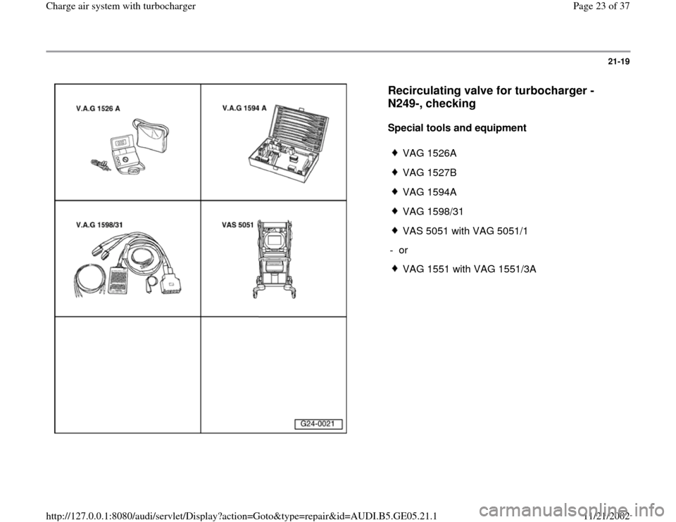 AUDI A4 1996 B5 / 1.G APB Engine Charge Air System With Turbocharger Workshop Manual, Page 23