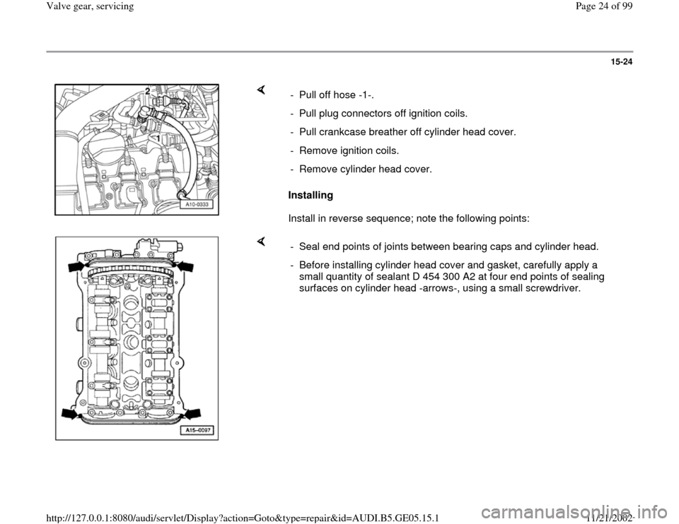 AUDI A4 1997 B5 / 1.G APB Engine Valve Gear Service Workshop Manual, Page 24