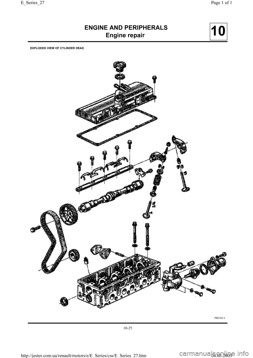 RENAULT CLIO 1997 X57 / 1.G Petrol Engines Workshop Manual, Page 27