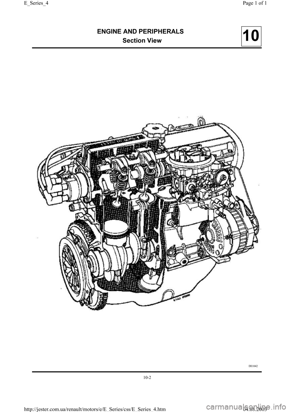 RENAULT CLIO 1997 X57 / 1.G Petrol Engines Workshop Manual, Page 4