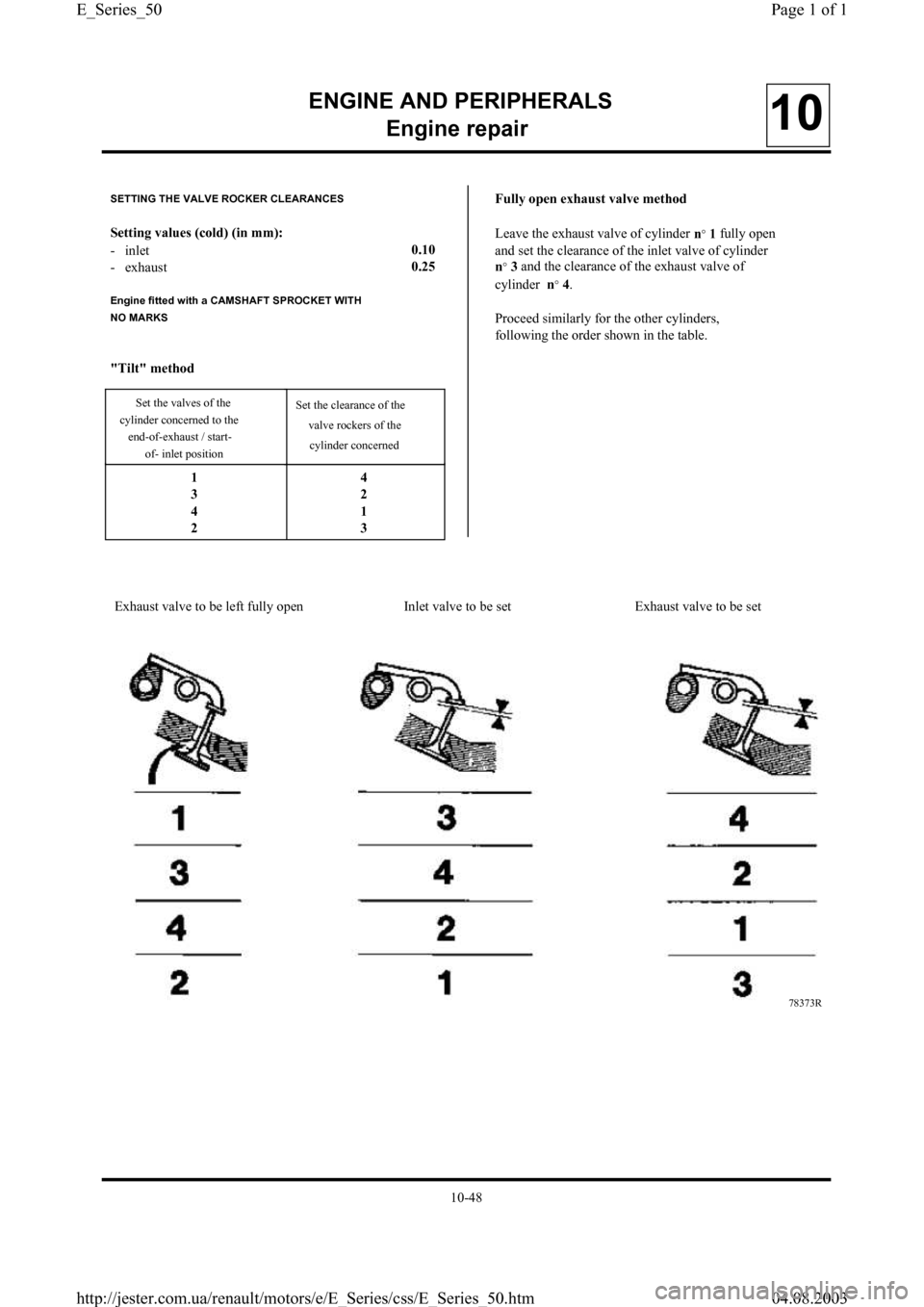 RENAULT CLIO 1997 X57 / 1.G Petrol Engines Workshop Manual, Page 50