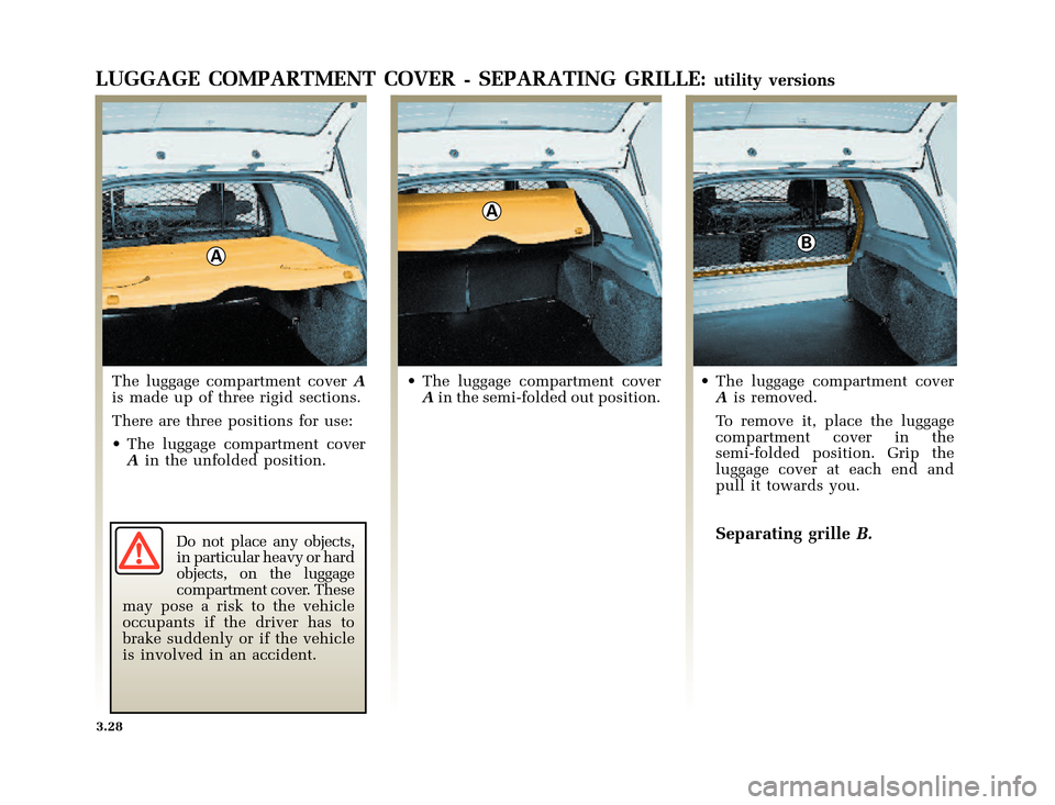 RENAULT CLIO 2000 X65 / 2.G Owners Manual, Page 114
