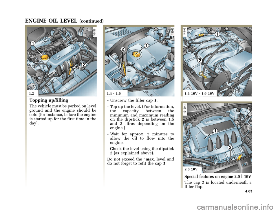 RENAULT CLIO 2000 X65 / 2.G Owners Manual, Page 121