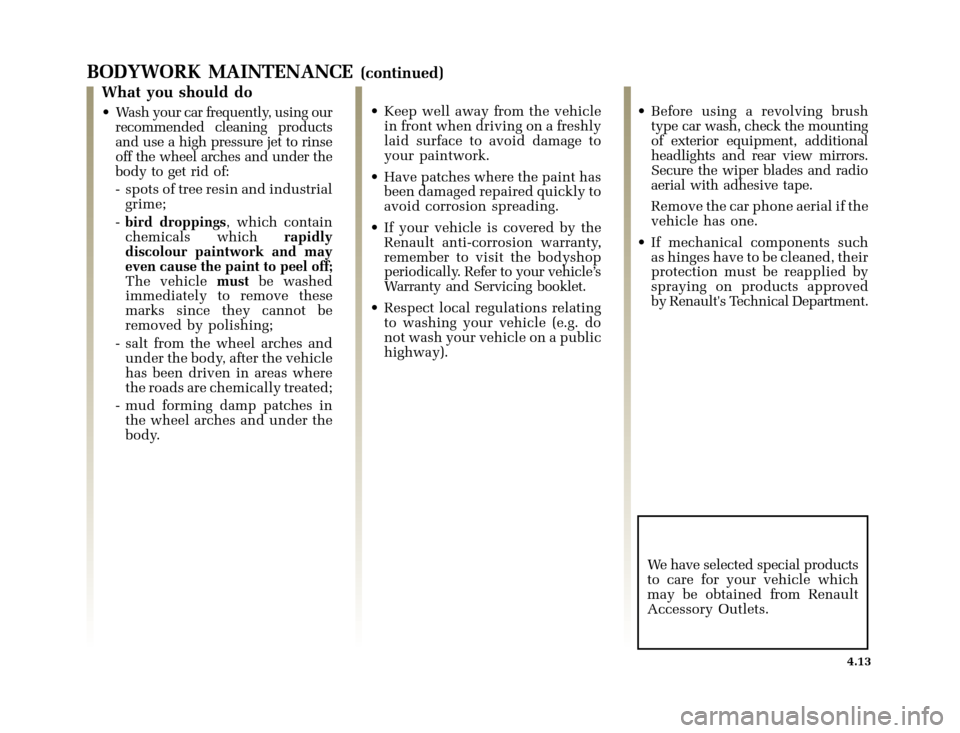 RENAULT CLIO 2000 X65 / 2.G Owners Manual, Page 129