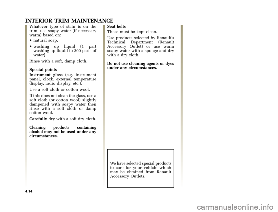 RENAULT CLIO 2000 X65 / 2.G Owners Manual, Page 130