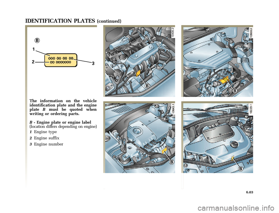 RENAULT CLIO 2000 X65 / 2.G Owners Manual, Page 167