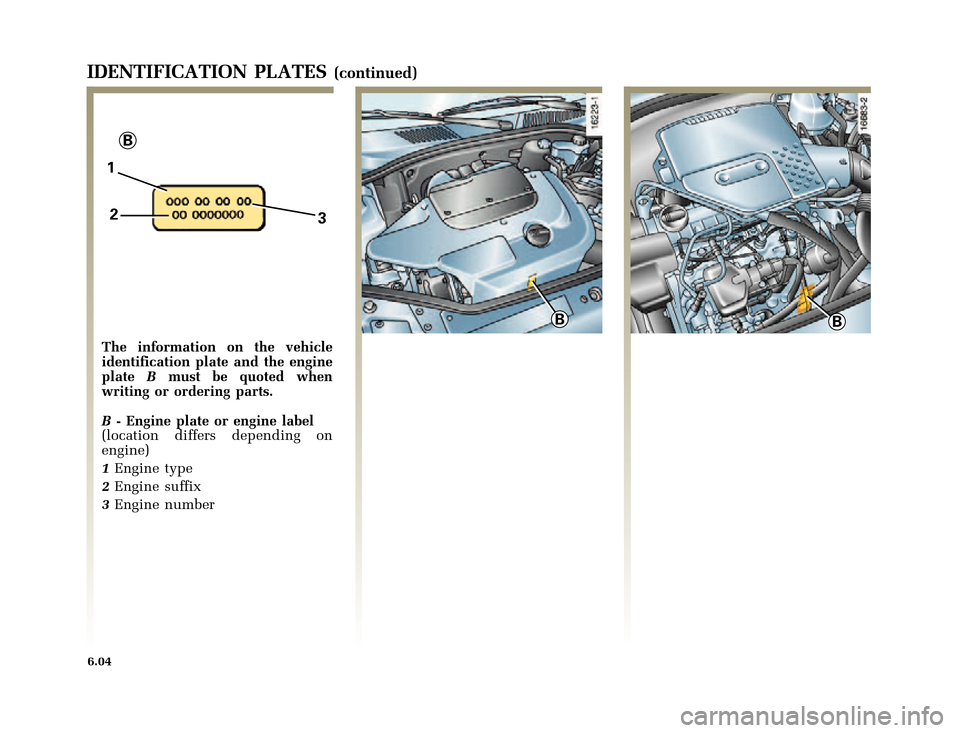 RENAULT CLIO 2000 X65 / 2.G Owners Manual, Page 168