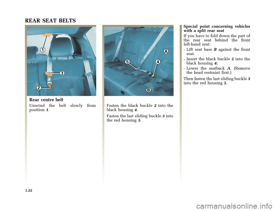 RENAULT CLIO 2000 X65 / 2.G Owners Manual, Page 30