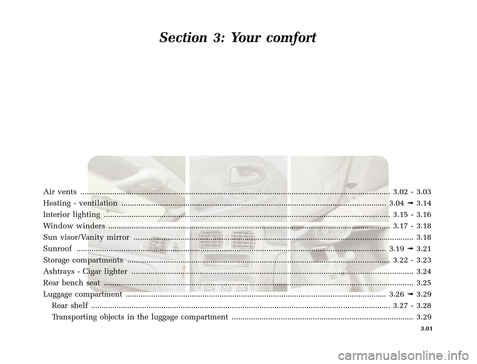 RENAULT CLIO 2000 X65 / 2.G Owners Manual, Page 87