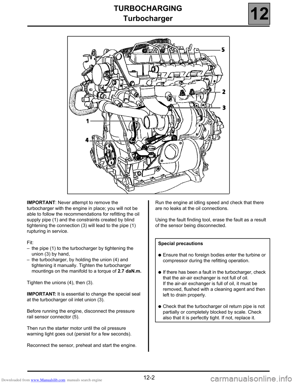 RENAULT ESPACE 2000 J66 / 3.G Technical Note 3426A Workshop Manual, Page 24