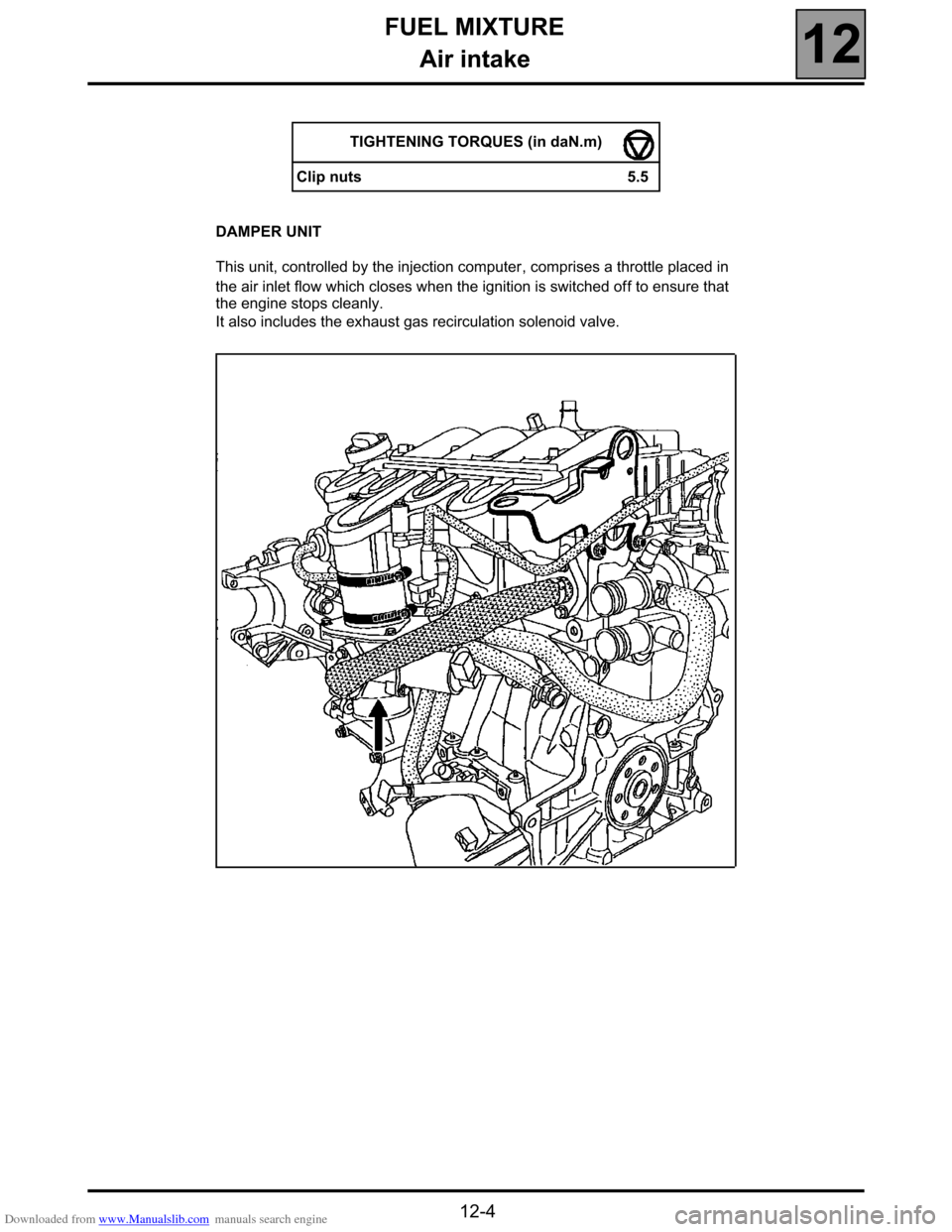 RENAULT ESPACE 2000 J66 / 3.G Technical Note 3426A Workshop Manual, Page 26