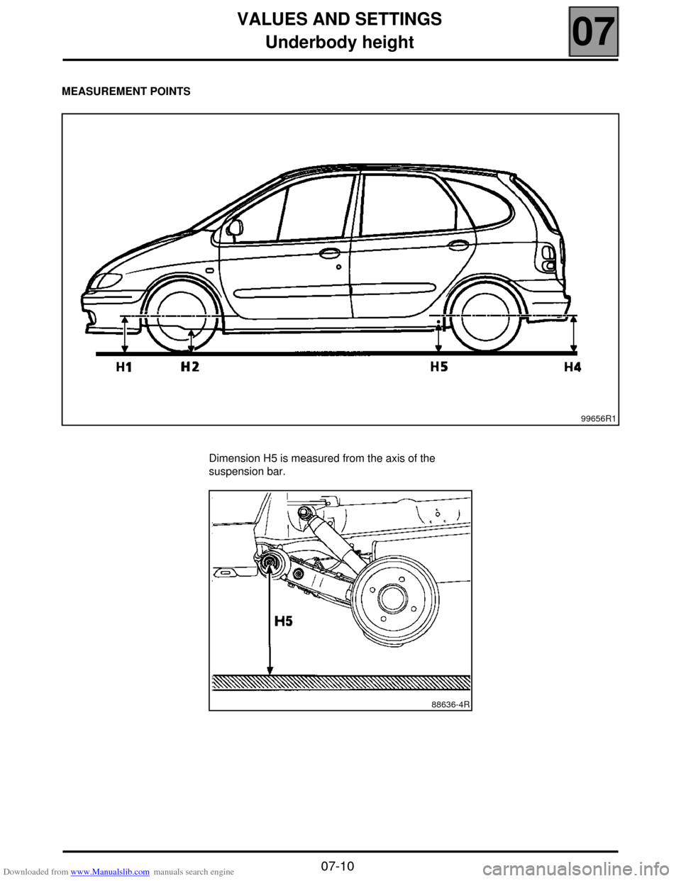 RENAULT SCENIC 2000 J64 / 1.G Technical Note 3426A Workshop Manual, Page 13