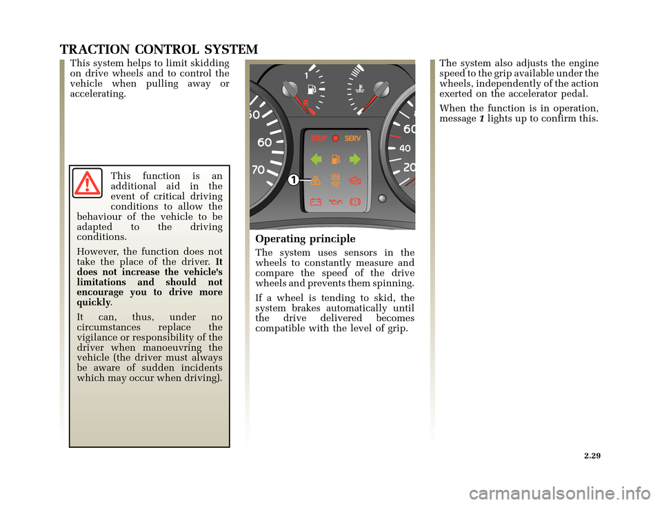 RENAULT CLIO 2003 X65 / 2.G Owners Manual, Page 101