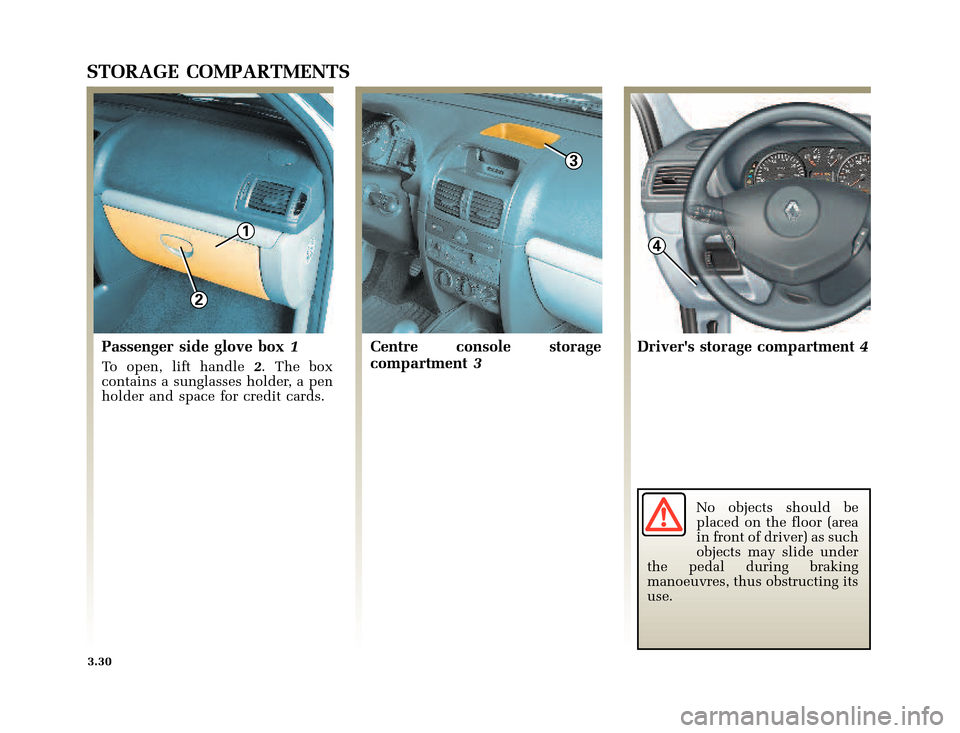 RENAULT CLIO 2003 X65 / 2.G Owners Manual, Page 132