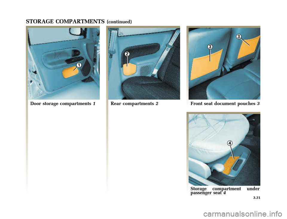 RENAULT CLIO 2003 X65 / 2.G Owners Manual, Page 133