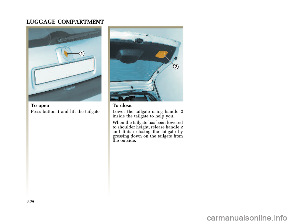 RENAULT CLIO 2003 X65 / 2.G Owners Manual, Page 136