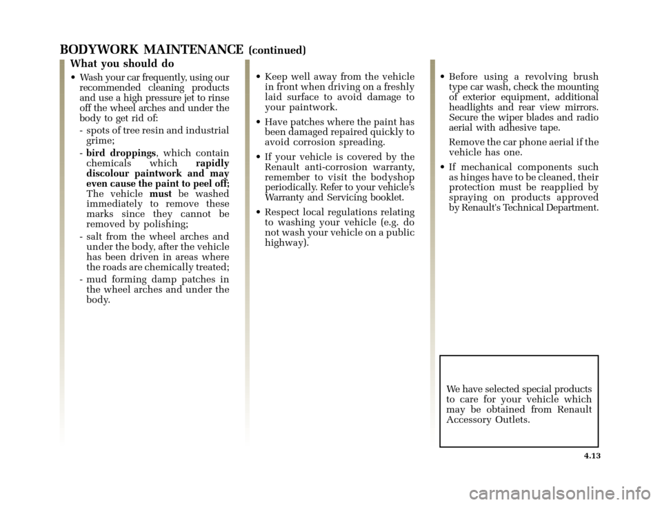 RENAULT CLIO 2003 X65 / 2.G Owners Manual, Page 153