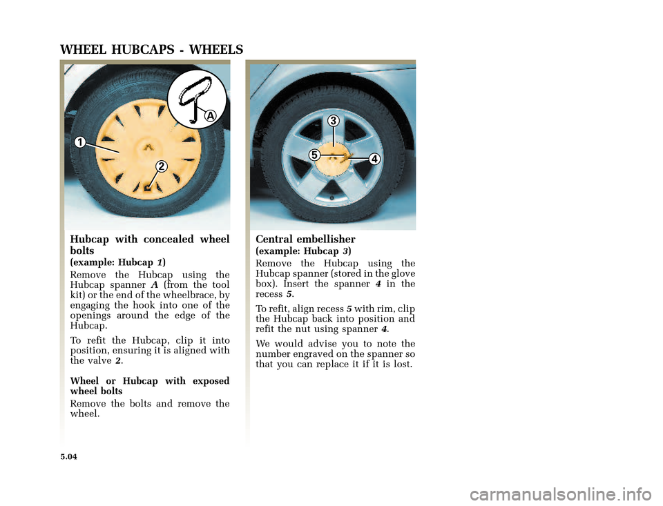 RENAULT CLIO 2003 X65 / 2.G Owners Manual, Page 158