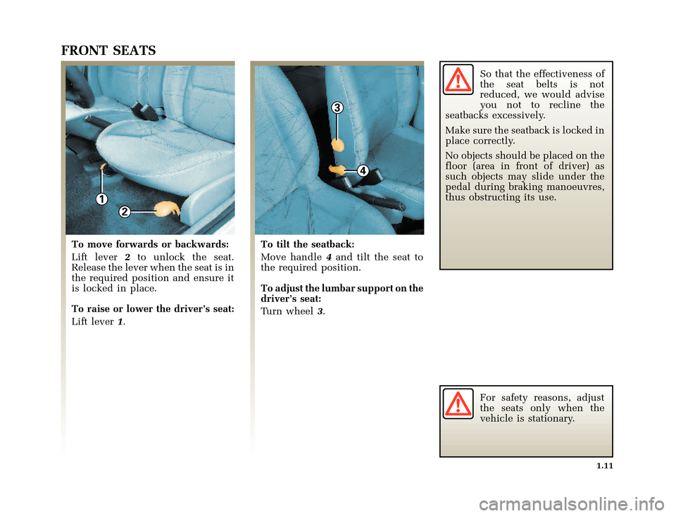 RENAULT CLIO 2003 X65 / 2.G Owners Manual, Page 19