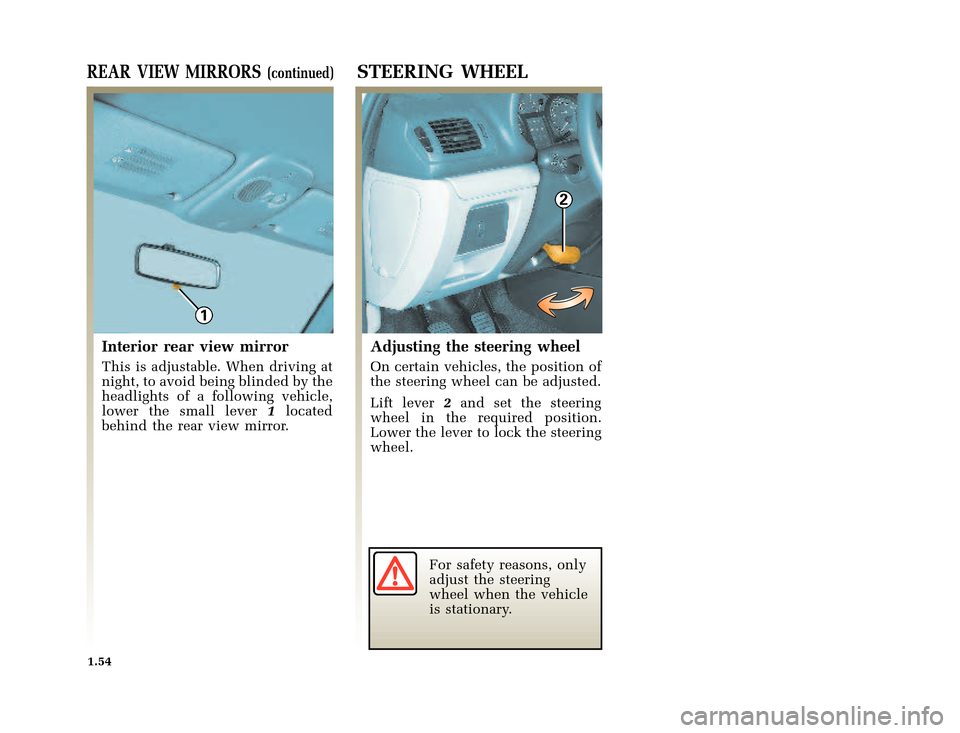 RENAULT CLIO 2003 X65 / 2.G Owners Manual, Page 62