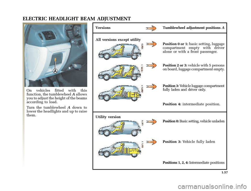 RENAULT CLIO 2003 X65 / 2.G Owners Manual, Page 65