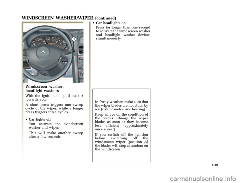 RENAULT CLIO 2003 X65 / 2.G Owners Manual, Page 67