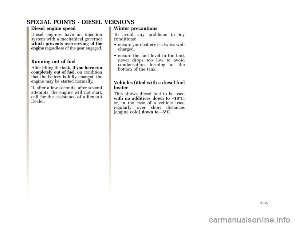 RENAULT CLIO 2003 X65 / 2.G Owners Manual, Page 77